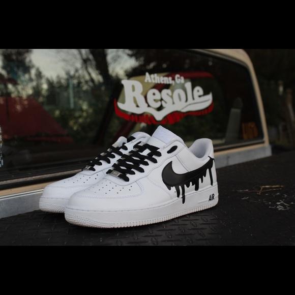 premium selection 6947d e4ec7 Custom Drippy check Air Force 1. NWT. Nike